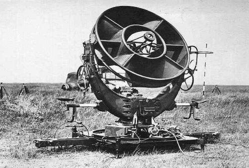 Acoustic radar left a german rrh acoustic locator at an unknown location 1940s publicscrutiny Image collections