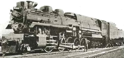 Left The Cpr 2 10 4 Compound Locomotive Of 1931 No 8000