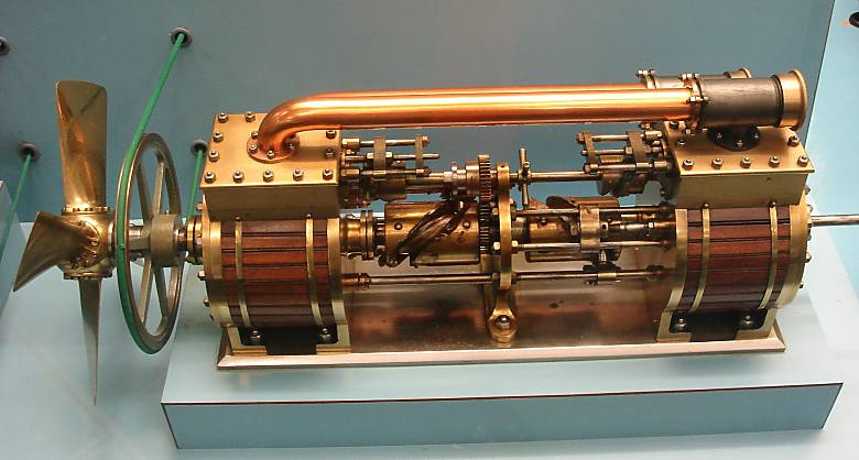Above: The Shott Axial Engine: 1870.