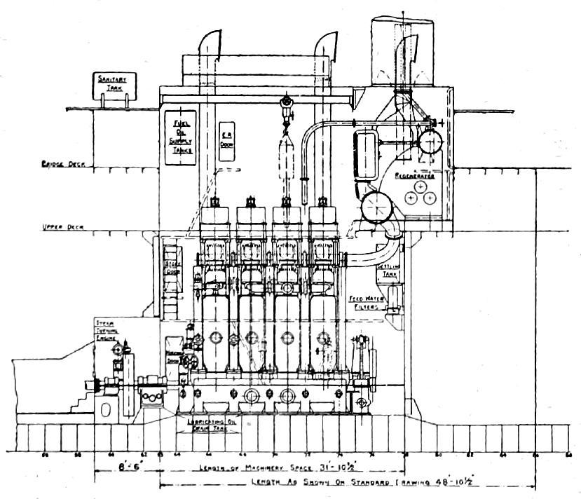 ship engine diagram