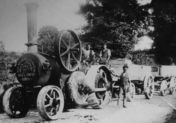 burrell single crank compound traction engine