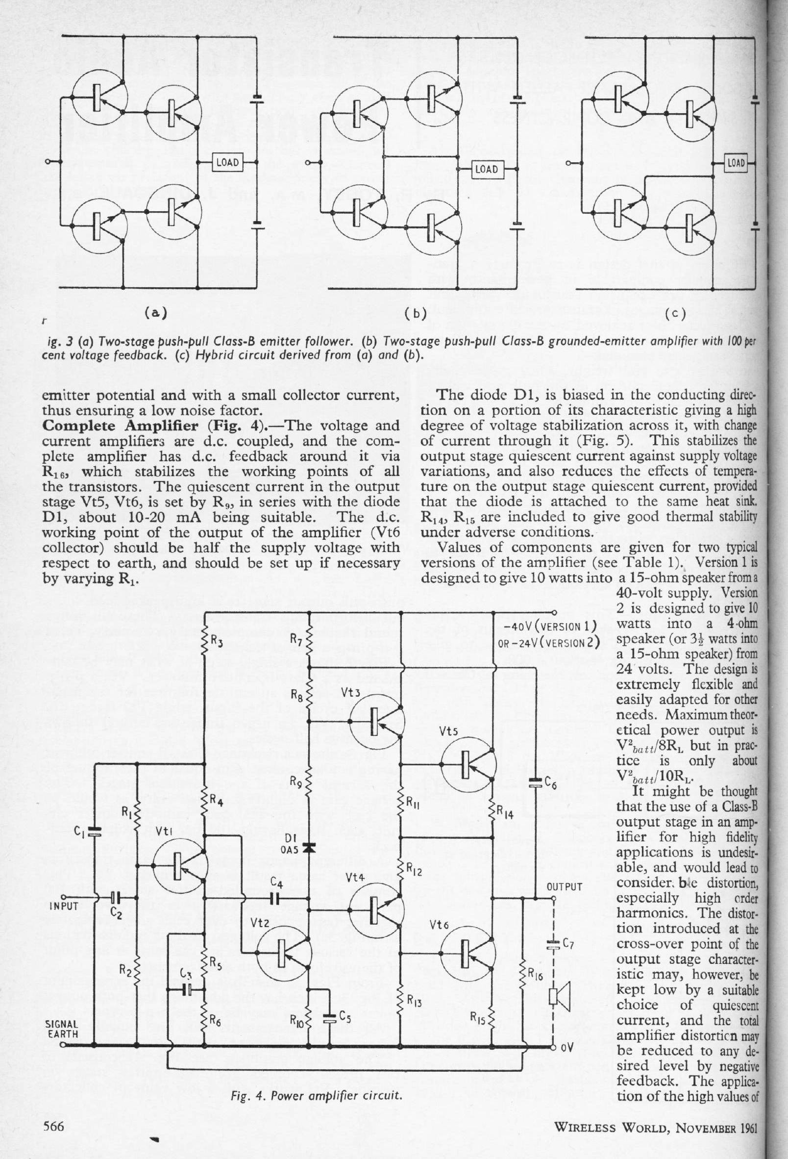 Linear Audio Cube Law Amp Vol8 Article Supplement Class A Amplifier Circuit Voltage Feedback Here Or Cfp As We Now Know It And Was Shown One Of 3 Possible Output